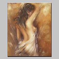 Handgeschilderde Naakt Verticaal,Modern Europese Stijl Eén paneel Canvas Hang-geschilderd olieverfschilderij For Huisdecoratie