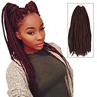 """abordables -Tresses Twist Tresse Natté boîtes Tresses 24 """" Cheveux 100 % Kanekalon Noir / Bourgogne Rajouts de Tresses Extensions de cheveux"""