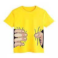Bambino (1-4 anni) Unisex Quotidiano / Sport / Scuola Con stampe Manica corta Standard Cotone T-shirt Rosso