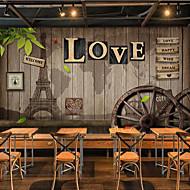 billige Tapet-Art Deco Murstein Sitater og uttrykk Hjem Dekor Traditionel / Klassisk Tapetsering, Lerret Materiale selvklebende nødvendig Veggmaleri,