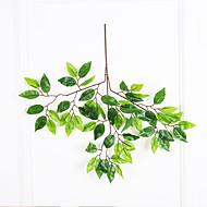 1 Gren Polyester Plastikk Planter Veggblomst Kunstige blomster