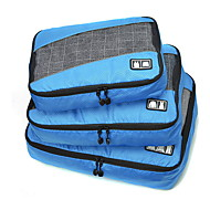 3枚 旅行かばん 旅行かばんオーガナイザー 携帯用 折り畳み式 耐久 大容量 小物収納用バッグ バッグ用小物 クロス ファブリック メッシュ生地 トラベル