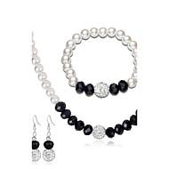 Dame Smykkesæt - Perle Mode, Euro-Amerikansk Omfatte Øreringe / Armbånd Perlehalskæde Hvid Til Bryllup Fest Jubilæum / Forlovelse / Gave / Daglig