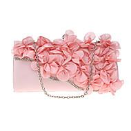 billige Designer Evening Bags-Dame Poser polyester Aftenveske Blomst Navyblå / Rosa / Ametyst
