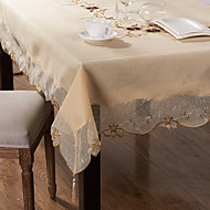 長方形 刺繍 テーブルクロス , ポリ/コットン混 材料 ホテルのダイニングテーブル ウェディングパーティーの装飾 結婚式の宴会ディナー クリスマスの装飾の好意 表Dceoration ウェディング ディナーインテリアの好意 ホームデコレーション