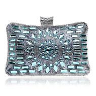 baratos Clutches & Bolsas de Noite-Mulheres Bolsas Poliéster Bolsa de Festa Cristal / Strass Azul Oceano / Azul Escuro / Preto Cinzento