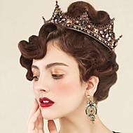 rhinestone legering tiaras hår pin hovedstykke klassisk feminin stil
