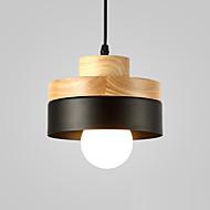 billiga -norra europa enkelhet modernt trä hängande ljus metall skugga vardagsrum matsal cafe belysning