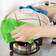 1Pcs  Coral Velvet Cleaning Cloth Ultra-Absorbent Kitchen Anti-Greasy Dish Wash Towel Kitchen Applience   Random Color