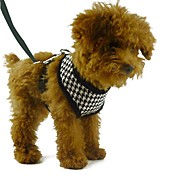 Dog Harness Leash Adjustable / Retractable Breathable Plaid/Check Geometic Textile Fabric Nylon