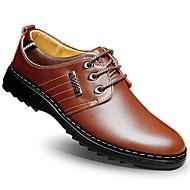 Bărbați Oxfords Vară Toamnă Confortabili Pantofi formale Piele Nuntă Birou & Carieră Casual Toc Plat Combinată Plimbare