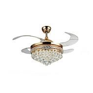 billige Takvifter-QINGMING® Takvifte Omgivelseslys - Krystall, designere, 220-240V, Gul / Hvit, LED lyskilde inkludert / 15-20㎡ / Integrert LED