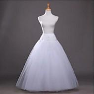 Hochzeit Party / Abend Unterhosen Baumwolle Polyester Tüll Bodenlänge Wadenlänge Glänzend A-Linie Abendkleid mit Weiße Schleife