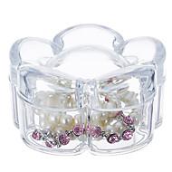 blomstformet sminke smykker oppbevaringsboks kosmetisk arrangør smykker display boks med lokket