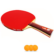 2 Sterne Ping Pang/Tischtennis-Schläger Ping Pang Holz Langer Griff Pickel