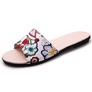 Damen Slippers & Flip-Flops Komfort Schweineleder Sommer Walking Komfort Flacher Absatz Purpur Grün Burgund Unter 2,5 cm