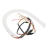 1 készlet 600 mm white, sárga kétszínű turn útmutató fény lágy cikk lámpa DC12V
