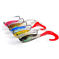 cheap Fishing-5 pcs Soft Bait Jigs Others Fishing Lures Shad Jig Head Jigs Soft Bait Soft Plastic Lead Stainless Steel / Iron Silicon Sea Fishing Bait