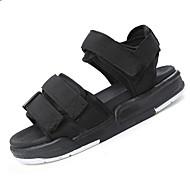 tanie Obuwie męskie-Męskie Buty Nylon Lato garbić buty Comfort Sandały Spacery Haczyk i pętelka na Casual Na wolnym powietrzu Black