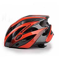 MOON Adulto Capacete de bicicleta 25 Aberturas Resistente ao Impacto EPS, PC Esportes Ciclismo de Estrada / Ciclismo / Moto / Bicicleta De Montanha / BTT - Vermelho Preto