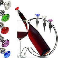 Stoppers & Pourers Gift For Bar WineDiamonds Crystal Glass Various Wine Cork Corkscrew Wine Bottle Oxygenating Wine Pourer Tie Plug Bung Stopper