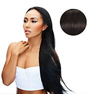 9pcs / set luxuoso preto natural de 120g # 1b fora do grampo preto em extensões do cabelo cabelo humano de 16inch 20inch 100%