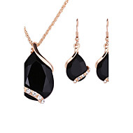 Pentru femei Seturi de bijuterii de mireasă Zirconiu Cubic Modă Euramerican Nuntă Petrecere Ocazie specială Halloween Zi de Naștere