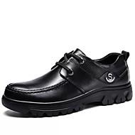 baratos Sapatos Masculinos-Homens Sapatos formais Pele Napa Outono / Inverno Casual Oxfords Preto / Festas & Noite