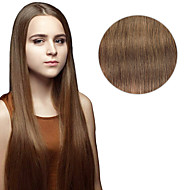 7 Pcs/Set #8 Ash Brown Clip In Hair Extensions 14Inch  18Inch 100% Human Hair