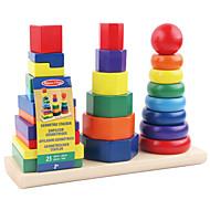 Bausteine Bildungsspielsachen Spielzeuge Quadratisch Kreisförmig Zylinderförmig Turm Kinder 1 Stücke