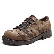 baratos Sapatos Masculinos-Homens Pele Napa Primavera / Outono Conforto Oxfords Aventura Castanho Claro / Festas & Noite