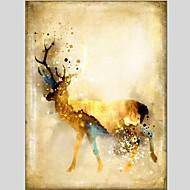 billiga Djurporträttmålningar-Hang målad oljemålning HANDMÅLAD - Djur Klassisk Moderna Duk