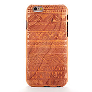 billiga Mobil cases & Skärmskydd-fodral Till iPhone 6s iPhone 6 Apple Mönster Läderplastik Skal Trämönstrat Geometriska mönster Hårt Trä för iPhone 6s iPhone 6