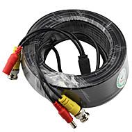 yanse®セキュリティシステム監視のための20m 66フィートbncビデオおよび電源12v DC統合ケーブル