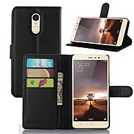 billiga Mobil cases & Skärmskydd-fodral Till Xiaomi Xiaomi Redmi 2 Korthållare Plånbok Stötsäker med stativ Fodral Ensfärgat Hårt PU läder för Xiaomi Redmi Note 4 Xiaomi