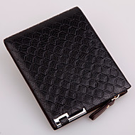 Men Bags PU Wallet Rivet for Casual Formal Outdoor Office & Career All Seasons Black Coffee Dark Coffee