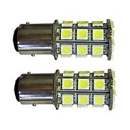 2pcs 1157 27 * 5050smdは車の電球の白い光dc12vを導いた