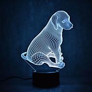 billige Innendørs LED-lys-1 stk 3D nattlys Mangefarget Usb Sensor Mulighet for demping Vanntett Fargeskiftende