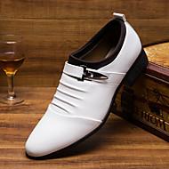 お買い得  メンズオックスフォードシューズ-男性用 靴 レザー コンフォートシューズ オックスフォードシューズ のために カジュアル オフィス&キャリア ホワイト ブラック