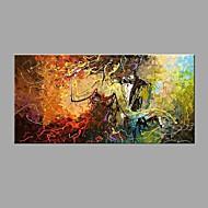 Handgeschilderde Abstract Horizontaal,Modern Klassiek Eén paneel Canvas Hang-geschilderd olieverfschilderij For Huisdecoratie