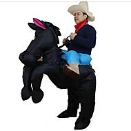Hest Cosplay Kostumer Halloweentillbehör Oppusteligt kostume Vandtæt Film Cosplay Sort Trikot/Heldragtskostumer Luftblæser Jul Halloween
