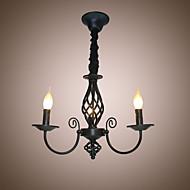 billige Takbelysning og vifter-3-Light Candle-stil Lysekroner Omgivelseslys - Stearinlys Stil, 110-120V / 220-240V Pære ikke Inkludert / 10-15㎡ / E12 / E14