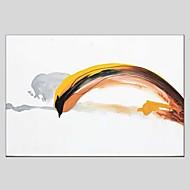 Kézzel festett Absztrakt Vízszintes Panorámás,Modern Klasszikus Egy elem Vászon Hang festett olajfestmény For lakberendezési
