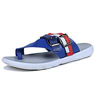 halpa -Tossut & varvastossut-Tasapohja-Miehet-PU-Valkoinen Musta Sininen-Rento-Comfort
