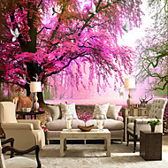 Blumen Bäume/Blätter Tapete Für Privatanwender Landhaus Stil Wandverkleidung , Leinwand Stoff Klebstoff erforderlich Tapete ,