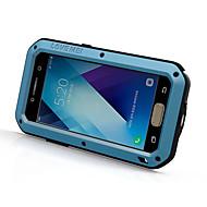 Etui Käyttötarkoitus Samsung Galaxy A5(2017) A3(2017) Iskunkestävä Vedenkestävä Kokonaan peittävä Yhtenäinen väri Kova Metalli varten A3