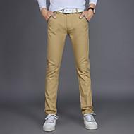 男性用 ストリートファッション / パンク&ゴシック プラスサイズ コットン スリム / チノパン / ビジネス パンツ - ソリッド ライトブルー / ワーク