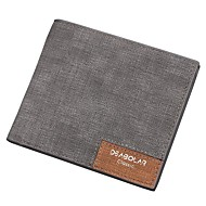 Men Bags All Seasons PU Wallet for Casual Outdoor Office & Career Black Ginger Dark Blue Gray