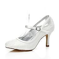 זול נעלי חתונה-בגדי ריקוד נשים נעליים משי אביב / קיץ נוחות / נעלי מועדון / נעלי dyeable נעלי חתונה עקב סטילטו בוהן עגולה / בוהן מציצה / פתוח בבוהן קריסטל