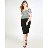 Dámské Sexy Jednoduchý Roztomilé Midi Tužky Sukně,High Rise Pletenina Jednobarevné